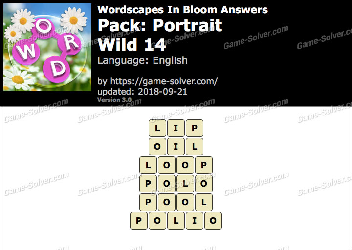 Wordscapes In Bloom Portrait-Wild 14 Answers