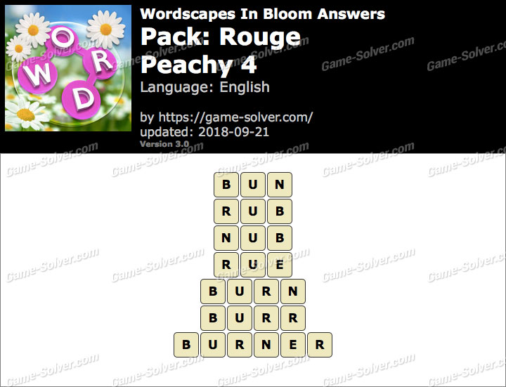 Wordscapes In Bloom Rouge-Peachy 4 Answers