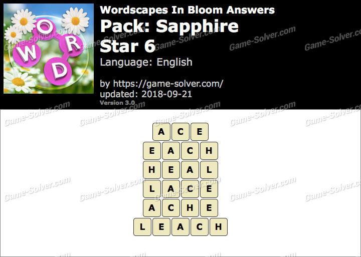 Wordscapes In Bloom Sapphire-Star 6 Answers