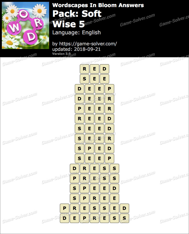 Wordscapes In Bloom Soft-Wise 5 Answers