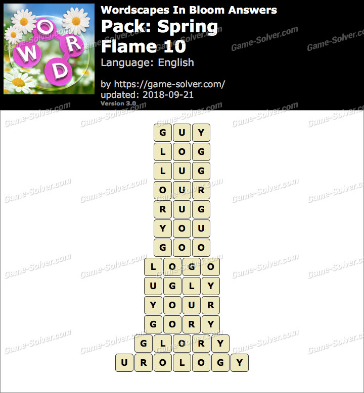Wordscapes In Bloom Spring-Flame 10 Answers