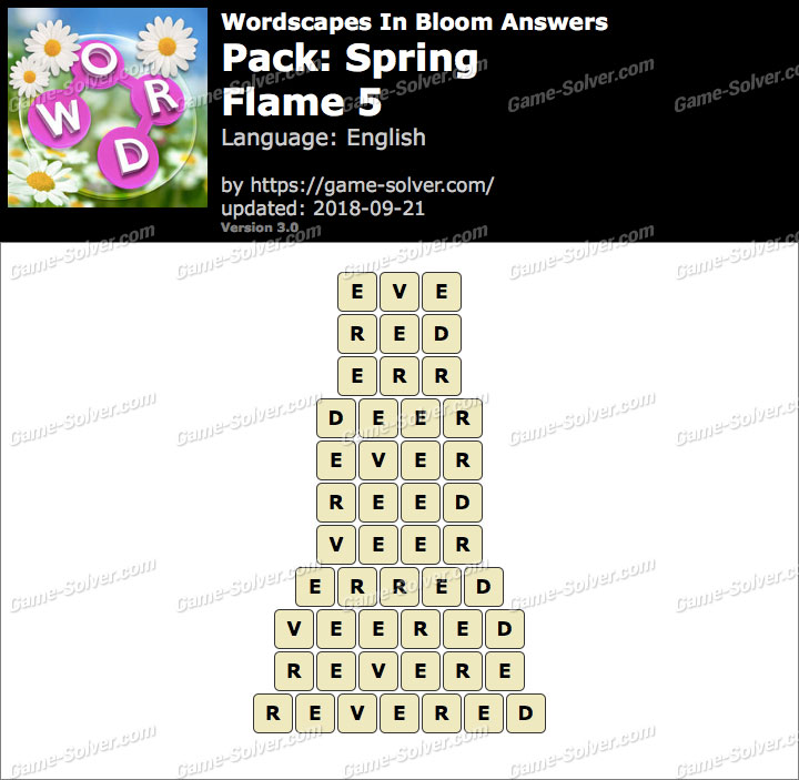 Wordscapes In Bloom Spring-Flame 5 Answers