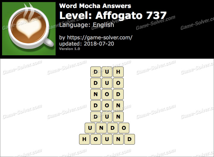 Word Mocha Affogato 737 Answers