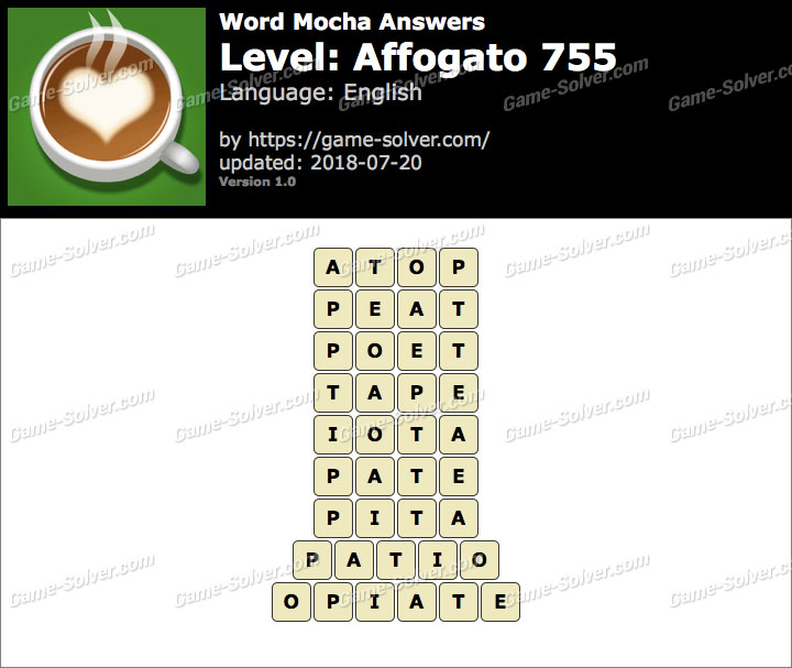 Word Mocha Affogato 755 Answers