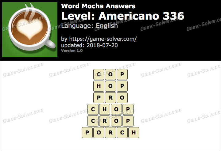 Word Mocha Americano 336 Answers