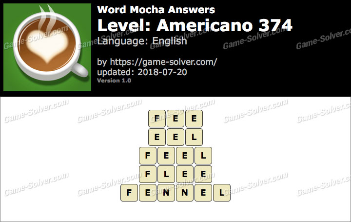 Word Mocha Americano 374 Answers