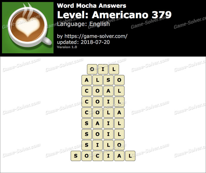 Word Mocha Americano 379 Answers