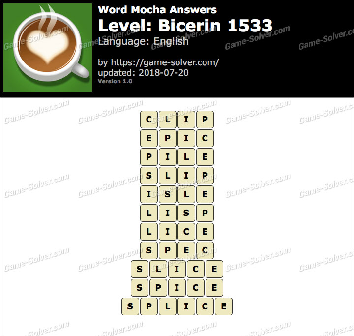 Word Mocha Bicerin 1533 Answers