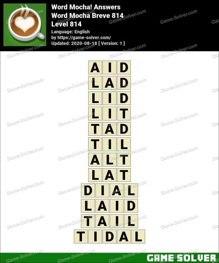 Word Mocha Breve 814 Answers