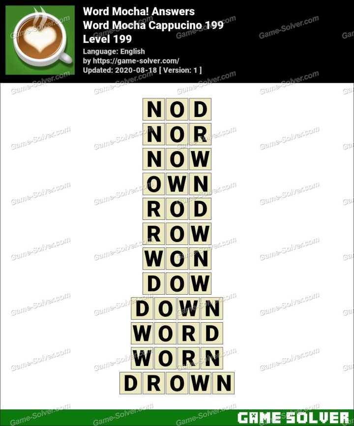 Word Mocha Cappucino 199 Answers