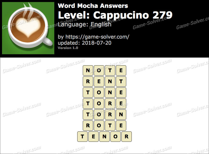 Word Mocha Cappucino 279 Answers