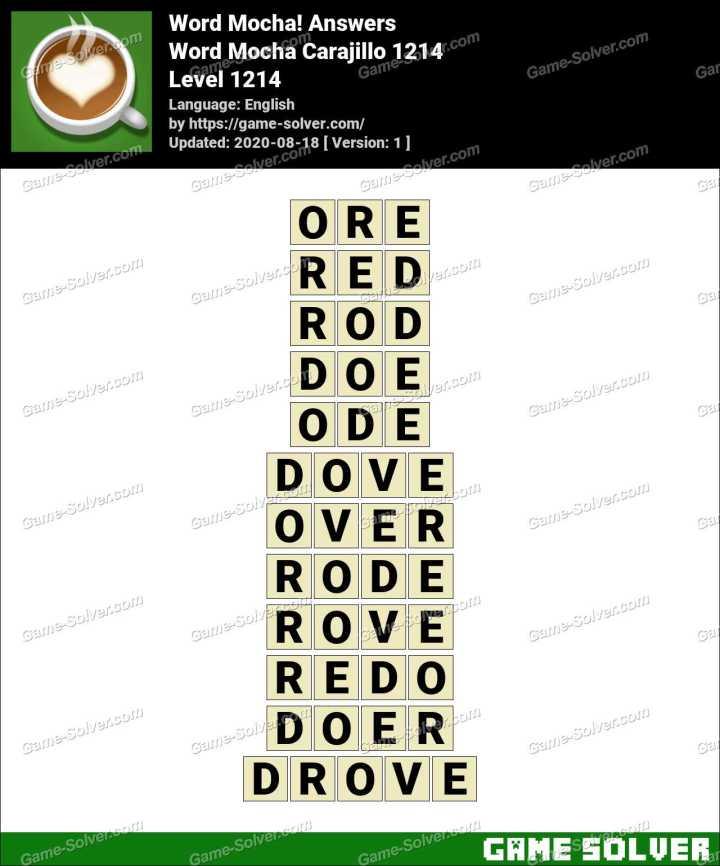 Word Mocha Carajillo 1214 Answers