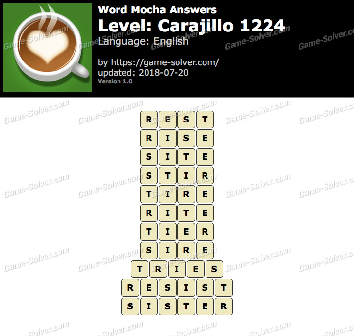 Word Mocha Carajillo 1224 Answers