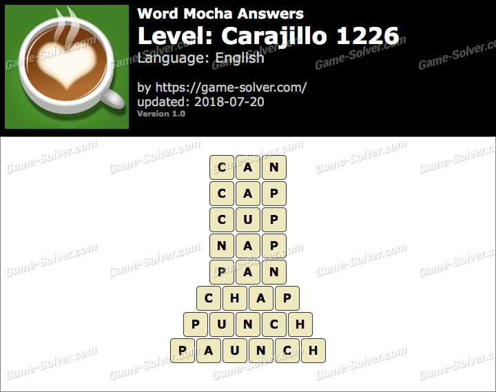 Word Mocha Carajillo 1226 Answers