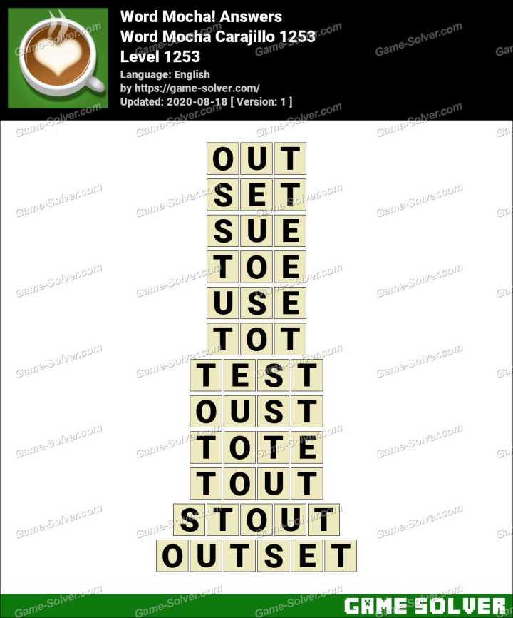 Word Mocha Carajillo 1253 Answers