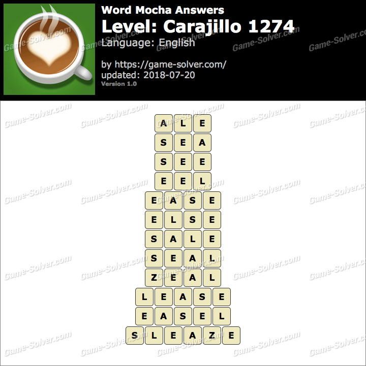 Word Mocha Carajillo 1274 Answers