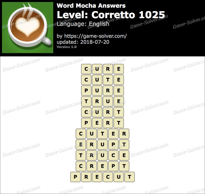 Word Mocha Corretto 1025 Answers