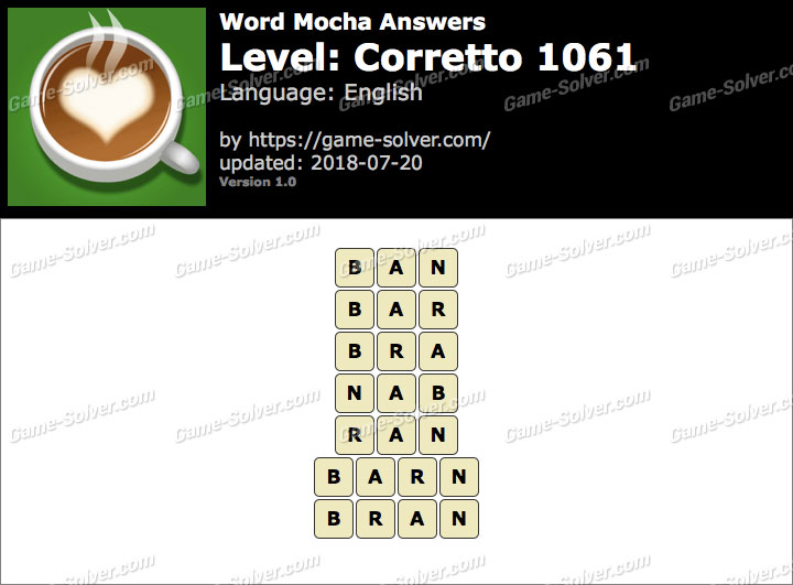 Word Mocha Corretto 1061 Answers