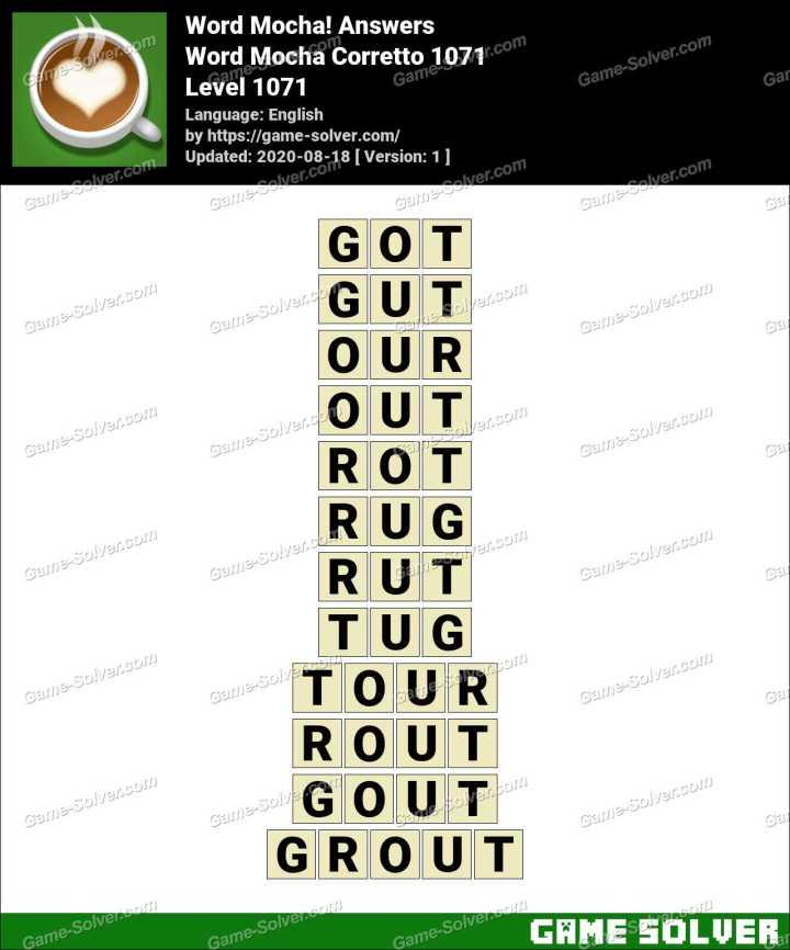 Word Mocha Corretto 1071 Answers