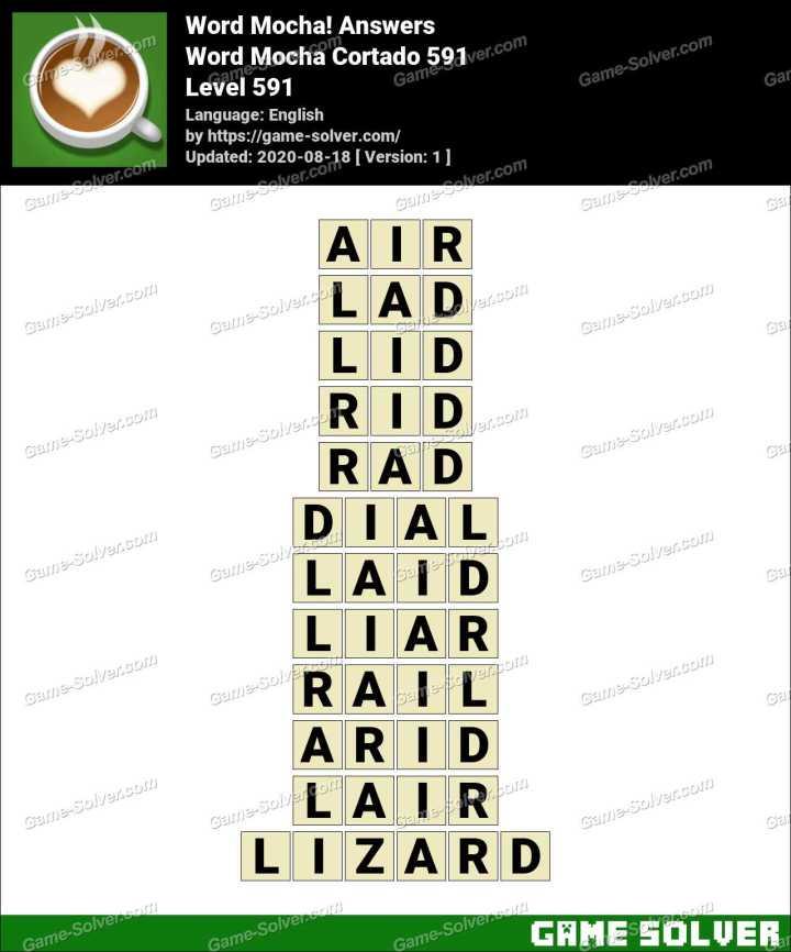 Word Mocha Cortado 591 Answers