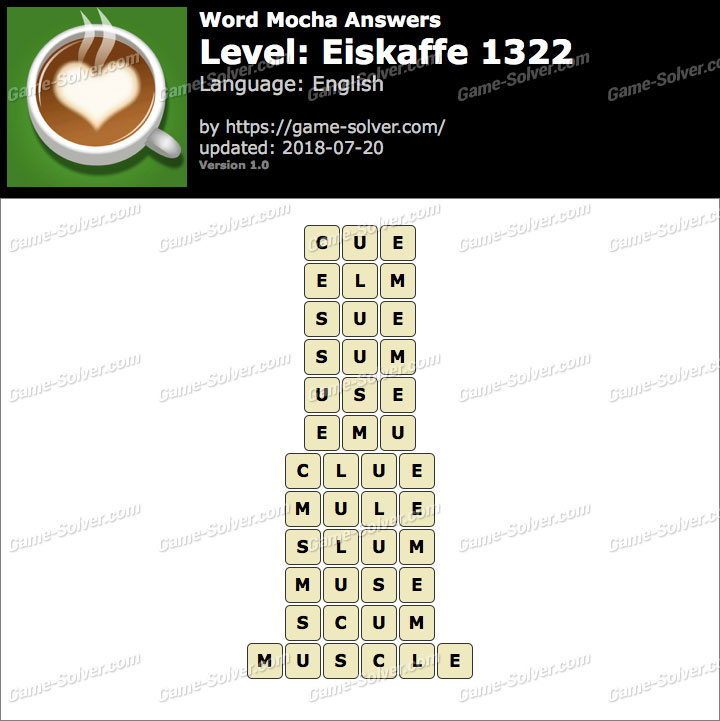 Word Mocha Eiskaffe 1322 Answers