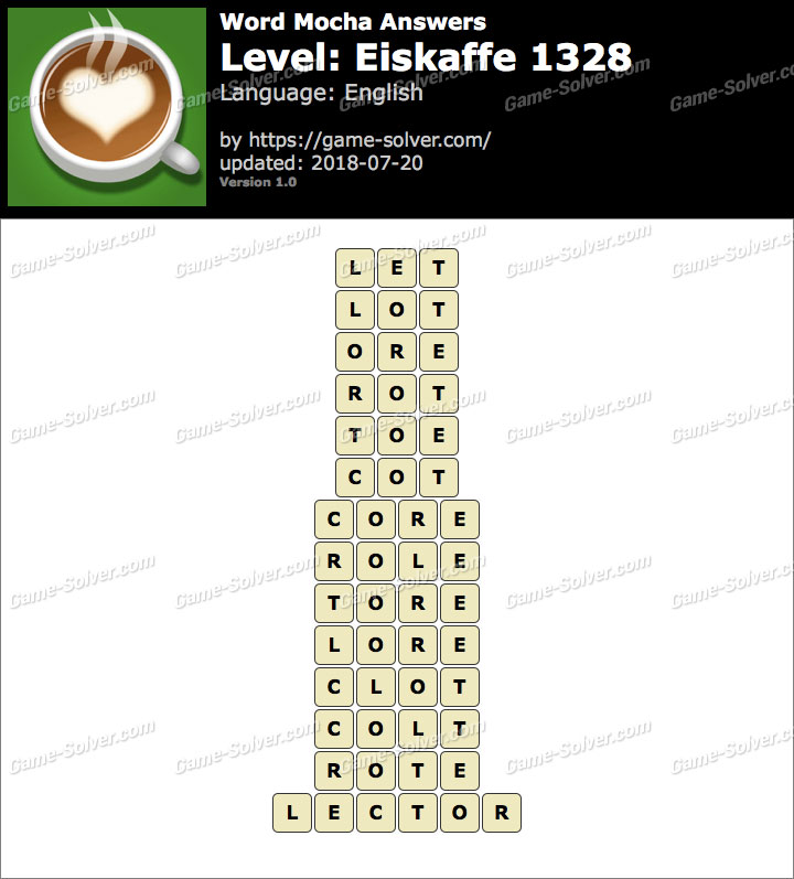 Word Mocha Eiskaffe 1328 Answers