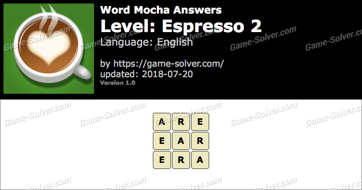 Word Mocha Espresso 2 Answers