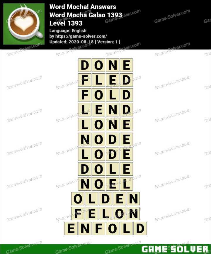 Word Mocha Galao 1393 Answers