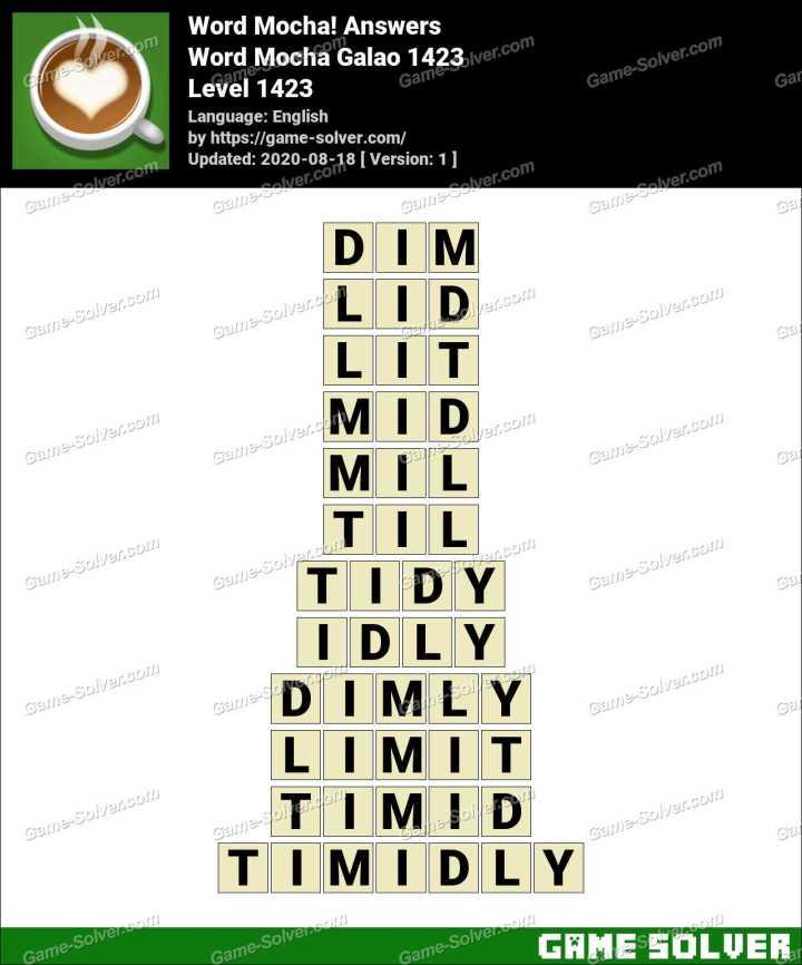 Word Mocha Galao 1423 Answers