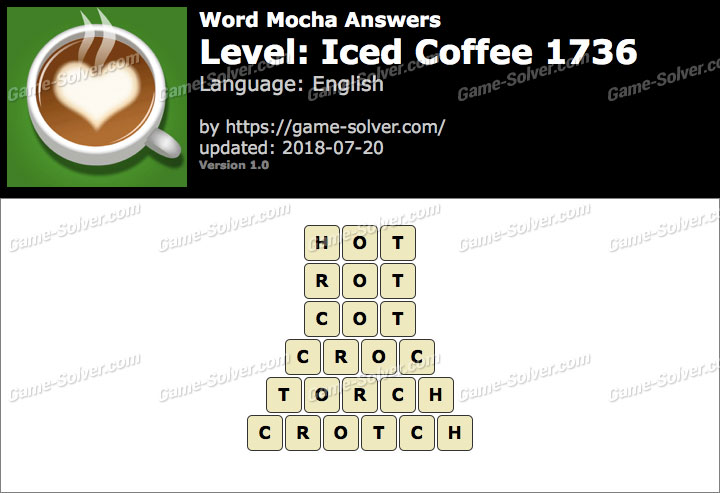 Word Mocha Iced Coffee 1736 Answers