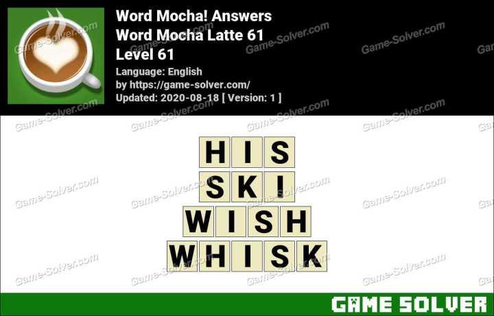 Word Mocha Latte 61 Answers