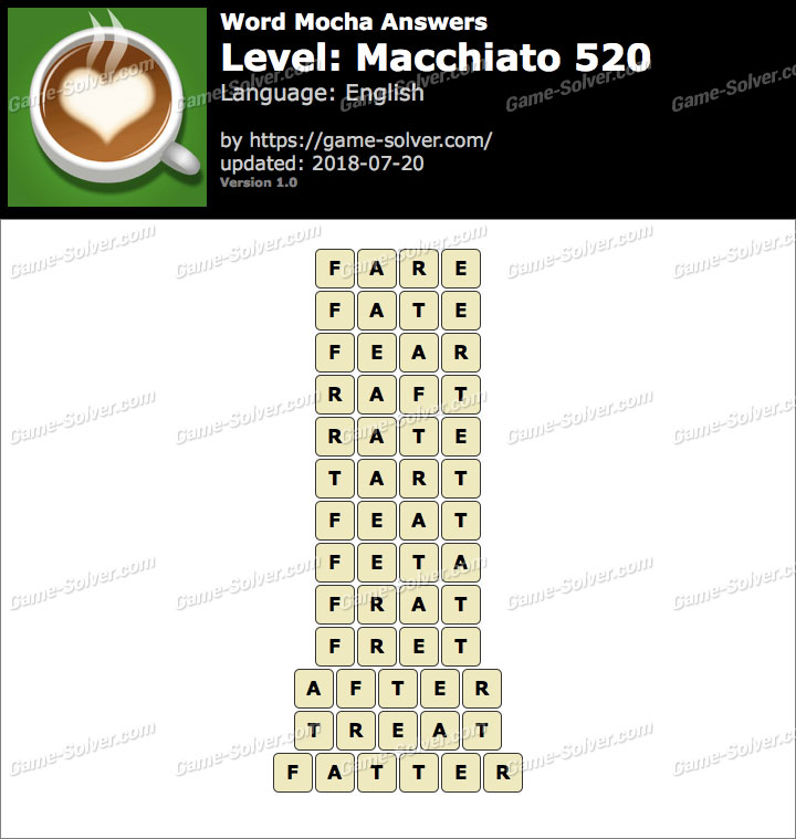Word Mocha Macchiato 520 Answers