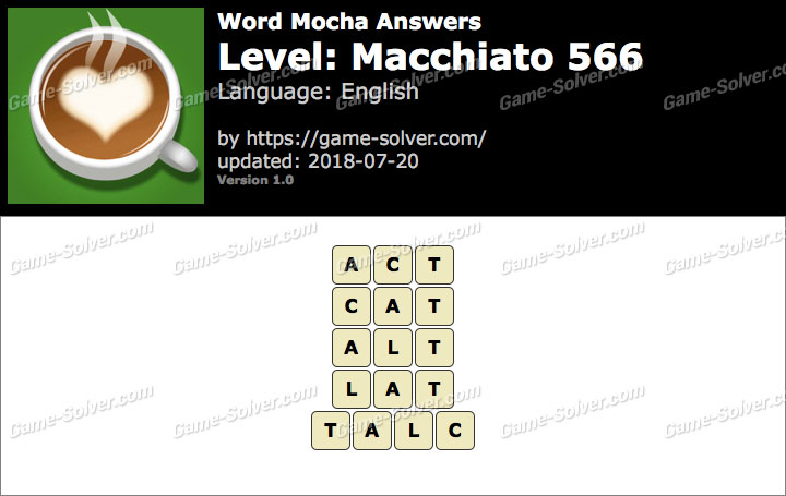 Word Mocha Macchiato 566 Answers