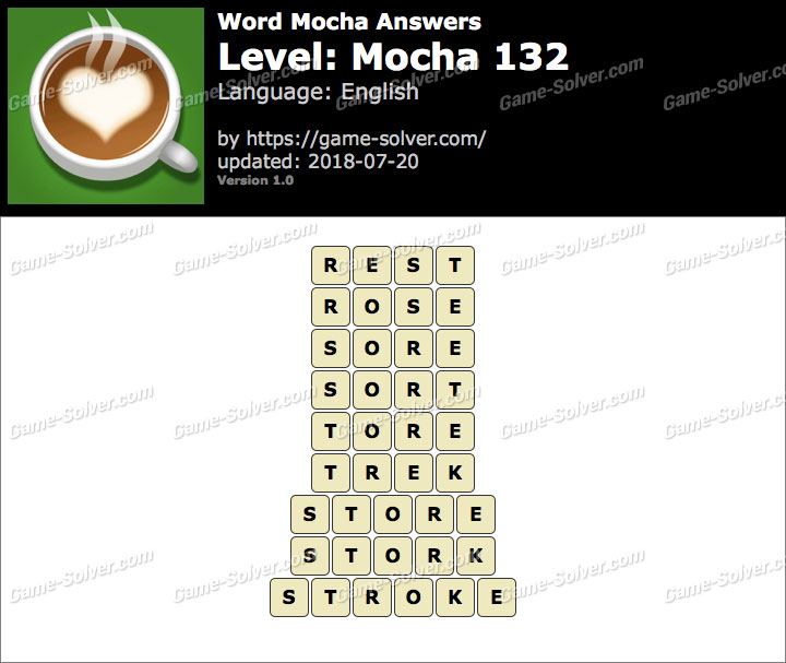 Word Mocha Mocha 132 Answers
