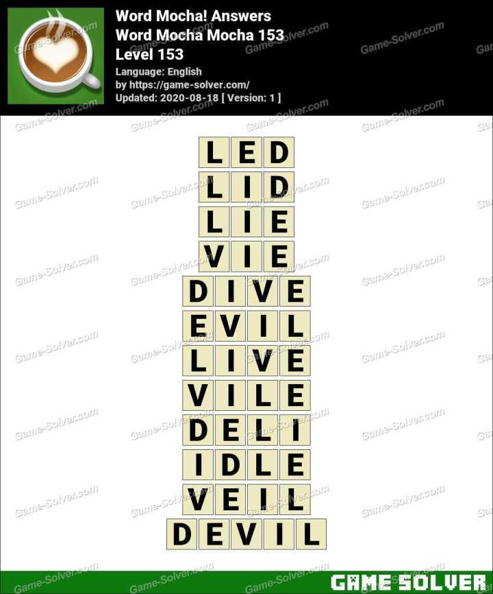 Word Mocha Mocha 153 Answers