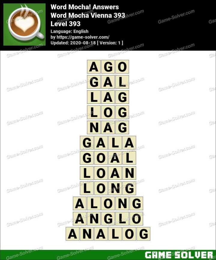 Word Mocha Vienna 393 Answers