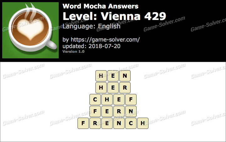 Word Mocha Vienna 429 Answers