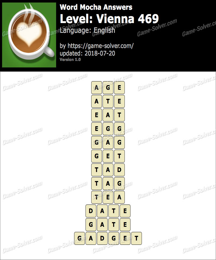 Word Mocha Vienna 469 Answers