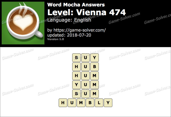Word Mocha Vienna 474 Answers