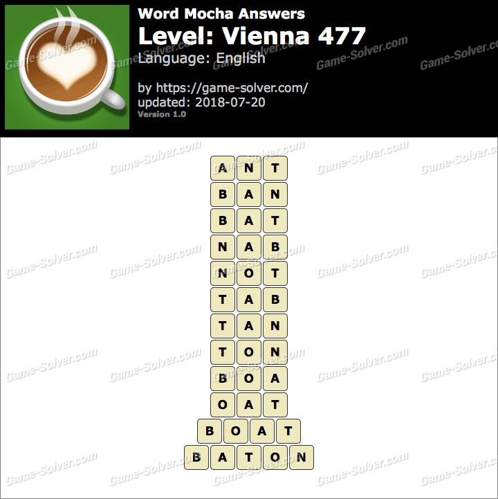 Word Mocha Vienna 477 Answers