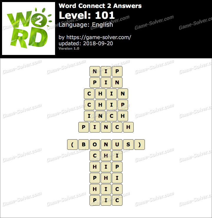 Word Connect 2 Level 101 Answers - Game Solver
