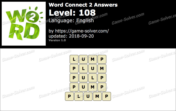 Word Connect 2 Level 108 Answers