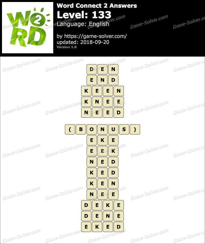 Word Connect 2 Level 133 Answers