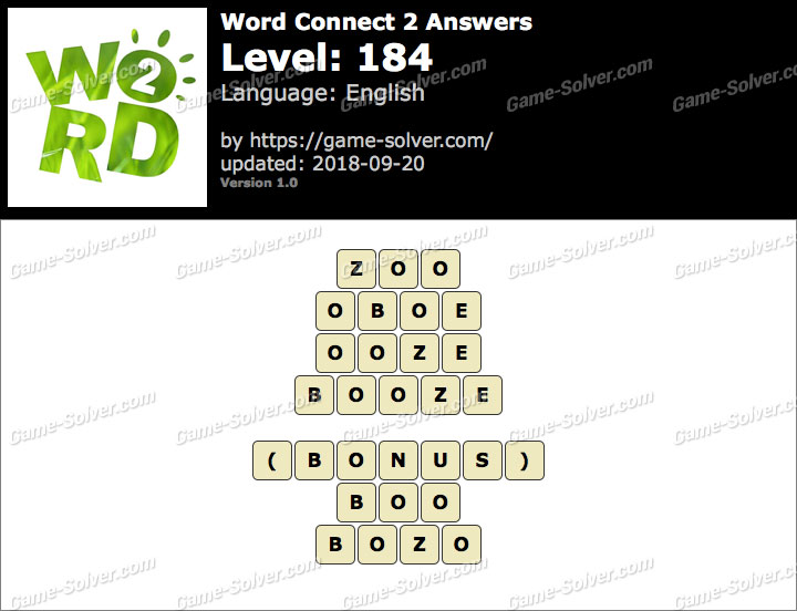 Word Connect 2 Level 184 Answers