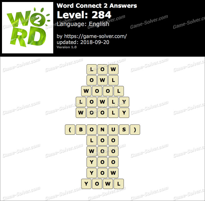 Word Connect 2 Level 284 Answers