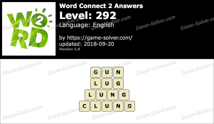 Word Connect 2 Level 292 Answers