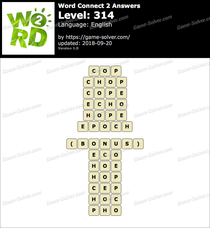 Word Connect 2 Level 314 Answers