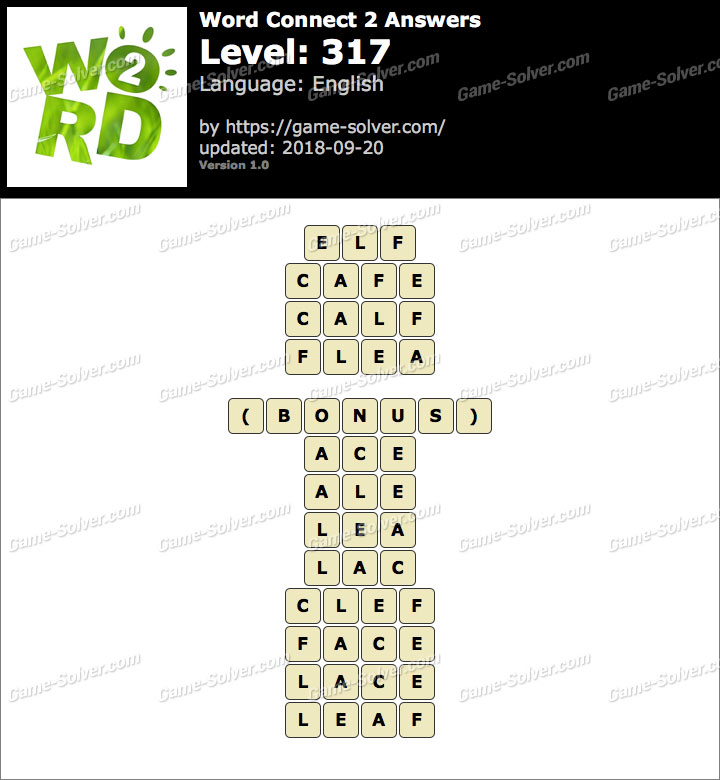 Word Connect 2 Level 317 Answers