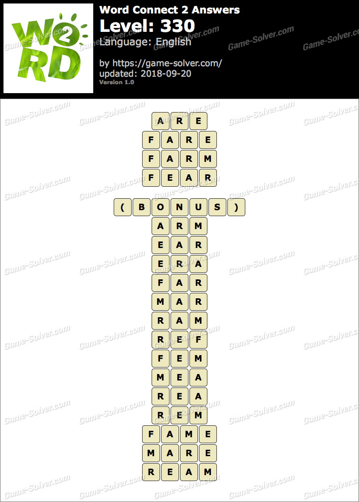 Word Connect 2 Level 330 Answers