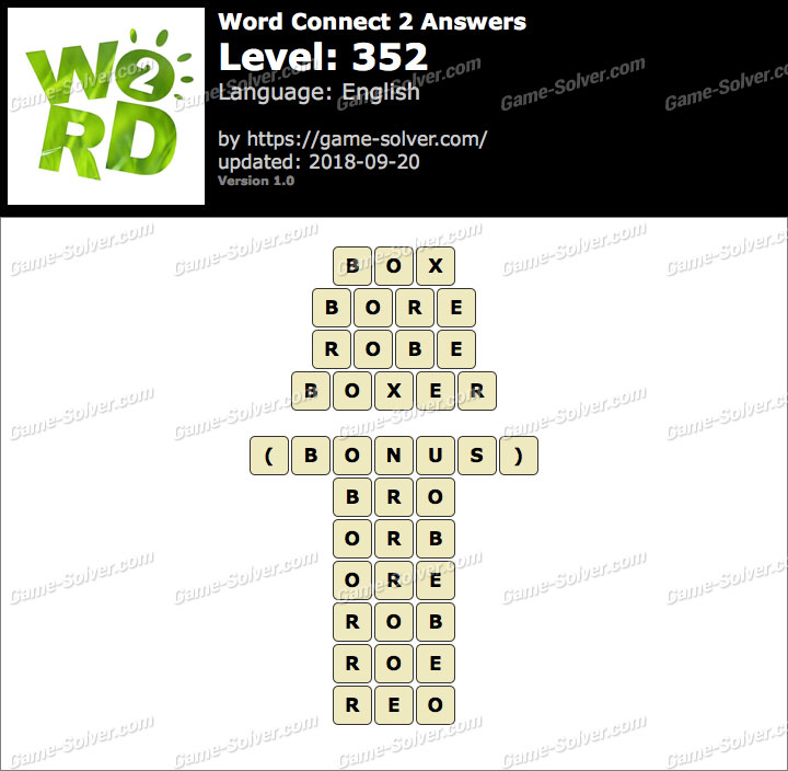 Word Connect 2 Level 352 Answers